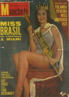 """capas da revista o cruzeiro dos anos 50 - Pesquisa Google Stael Abelha  Miss Brasil- Capa da Revista """"Manchete"""""""