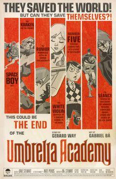 The Umbrella Academy is definitely my favorite comic series.