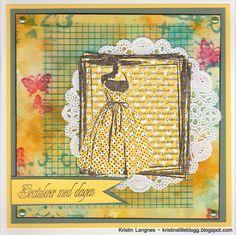 UM Stempel - Prikkete kjole i ramme | Kreativ Hobby - scrapbooking, kortlaging og stempling