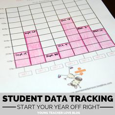 Research shows that when students track their own data, they perform better. Get your students to be organized, intrinsically motivated, and accountable for their own learning. Read how to start the next school year off right by clicking this picture! Student Data Tracking-$ Young Teacher Love by Kristine Nannini