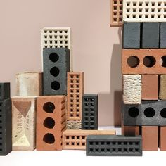 Brick palette Brick Material, Material Board, Palette Pastel, Palette Design, Brick Texture, Brick Colors, Chaise Vintage, Wall Finishes, Colour Schemes