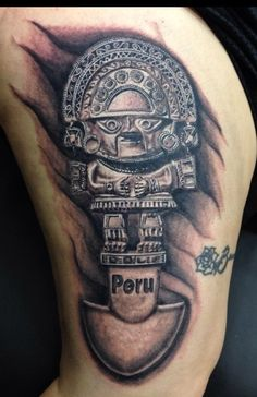 Peruvian Tumi tattoo done by the very talented Cesar Perez out of Creative Ink Tattoo in Keene, NH USA