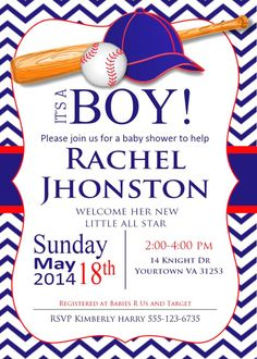 sports themed baby shower invitations #kids