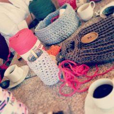 Workshop in Monnickendam. 10 dames haakten een tas
