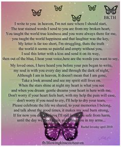 Letter from heaven : My Pink Friend Robin Crooks . I miss you everyday . Heaven Quotes, Love Quotes, Inspirational Quotes, Heaven Poems, Aunt Quotes, Daughter Quotes, Motivational, Miss Mom, Miss You Dad