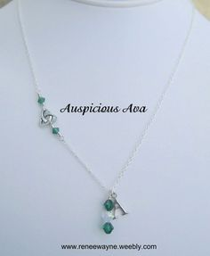 Sterling silver celtic trinity knot necklace with Swarovski crystals. www.reneewayne.weebly.com