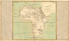 Lacs, fleuves, rivieres et principales montagnes de l'Afrique (1787), Jean Baptiste Louis Clouet (1730-1790)