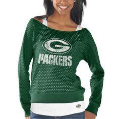 Green Bay Packers Ladies Holy Sweatshirt & Tank Set - Green