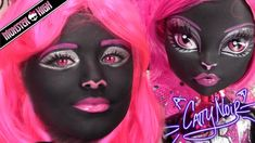 Monster High Catty Noir Doll Costume Makeup Tutorial for Halloween or Cosplay | KITTIESMAMA – Makeup Project