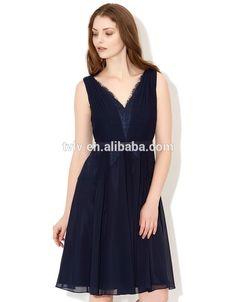 Latest Embellished Beadwork V Neckline Sleeveless Blue Chiffon Dresses For Women #Beadwork, #blue