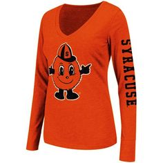 Syracuse Orange Ladies Hybrid Long Sleeve T-Shirt - Orange