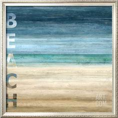 Beach art... with the word BEACH. Featured here: http://beachblissliving.com/beach-word-art-blue/