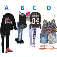 A, B, C or D? Make your own personalized outfit.