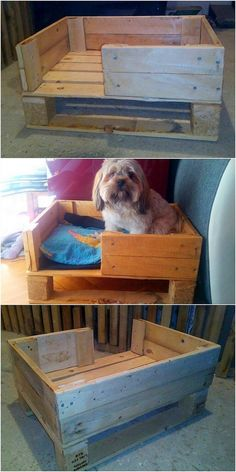 What a beautiful dog bed it is! Such miniature size of dog bed designs of wood pallet comes out to be suitable and perfect for your puppies. Its shaping effect in the royal customary touch is its main attraction. To arrange the settlement of more than 2 dogs, you can have this dog bed creation in larger size. #palletfurniturebeds
