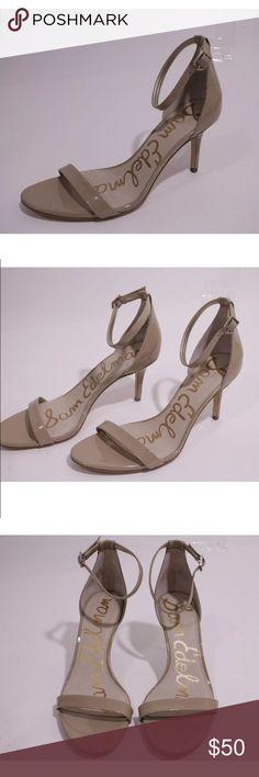 Sam Edelman nude patent heels Pre owned, in excellent condition! Nude patent strappy heels. Sam Edelman Shoes Heels