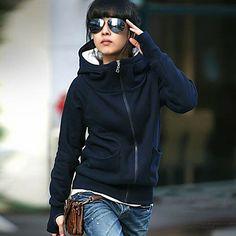 Primavera mulheres Hoodie roupas de alta pescoço casaco com capuz Camisolas – BRL R$ 37,08