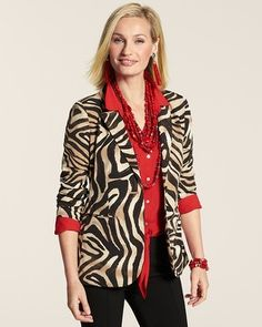 Jackets for Women - Dress Jackets, Casual Jackets & More - Chico's Yes of course I want a blazer like this. I'd pair it with a fuschia or teal blouse