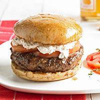 this is my kind of burger....lamb & feta burger!