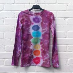 Rainbow Tie Dye Chakra Top Long Sleeve Womens Top ALL SIZES Yoga Festival Clothing Hippie Bohemian LGBT Pride by AbiDashery on Etsy Festival Trends, Festival Outfits, Festival Clothing, Yoga Festival, Shades Of Burgundy, Hippie Bohemian, Beautiful One, White Tops, Chakra