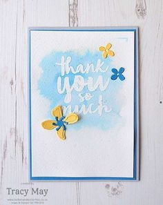 Thank You Card using Stampin' Up! Product for Global Design Project Challenge #GDP034, sketch by Teneale Williams, using a new stamp set!