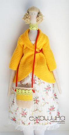 Mimin Dolls: tilda casaco amarelo- parte 1
