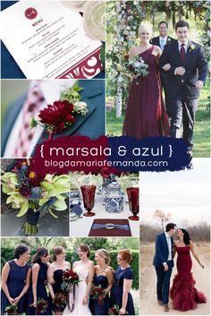 Decoração de Casamento : Paleta de Cores Marsala e Azul Marinho | http://blogdamariafernanda.com/decoracao-de-casamento-paleta-de-cores-marsala-e-azul-marinho