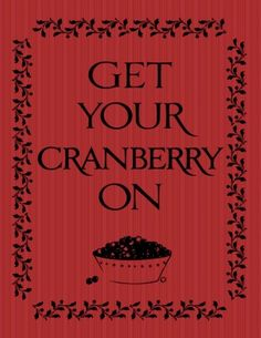 Free Cranberry print for Thanksgiving