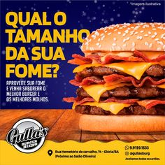 Food Poster Design, Hamburger, Social Media, Ethnic Recipes, Moonlight, Sauces, Hamburgers, Burgers, Social Networks