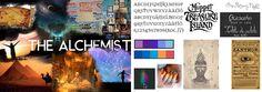 """Visueel onderzoek (7) naar de inhoud van het boek """"The Alchemist"""" waaruit de quote komt."""