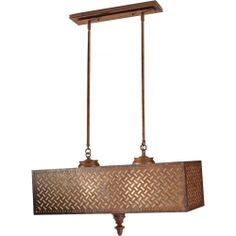 Murray Feiss Lighting (F2904/4MOB) Kandira 4 Light Billiard/Island Pendant shown in Moroccan Bronze Finish
