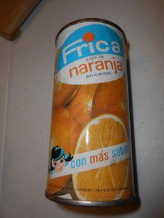 FRICA jugo de NARANJA Azucarado   ORANGE JUICE SOdA pop FT CAN   Valencia VENEZUELA