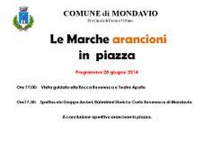 """""""gusta l'arancione: le Marche arancioni in piazza"""" - Programma Comune di MONDAVIO"""