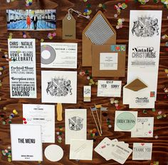 mint love social club: {our wedding: the paper goods + favors}