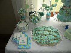 Blue and green elephant first birthday Elephant Theme, Baby Elephant, Elephant First Birthday, 1st Birthdays, Cookie Ideas, Birthday Ideas, Cookies, Green, Crafts