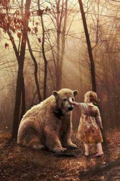 Jorlyn meeting her bear for the first time. She names him Mormont after the family she wishes she could have