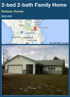 2-bed 2-bath Family Home in Deltona, Florida ►$80,000 #PropertyForSale #RealEstate #Florida http://florida-magic.com/properties/73703-family-home-for-sale-in-deltona-florida-with-2-bedroom-2-bathroom