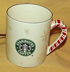 Starbucks 2016 Candy Cane Handle Snow Coffee Mug Mermaid Holiday Christmas Starbucks Christmas, Christmas Coffee, Starbucks Coffee, Christmas Candy, Christmas Holidays, Cane Handles, Logo Mugs, White Coffee Mugs, Candy Cane