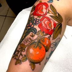 Florida Oranges and Poppies done by