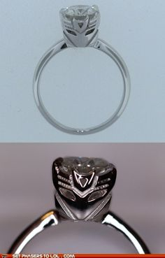 TRANSFORMERS ENGAGEMENT RING!!!!!!  For my Jonathan to use one day....
