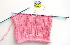Tips para tejer en dos agujas o palitos!  Cómo recuperar un punto destejido y más! #knit #tejer #diy