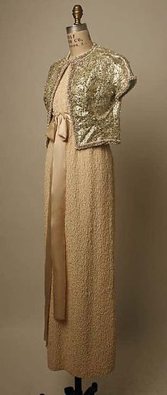 Yves Saint Laurent, Paris (French, founded 1961), Evening ensemble, Spring/Summer 1963. The Metropolitan Museum of Art, New York.  Gift of Mrs. Charles B. Wrightsman, 1964. (C.I.64.20.9a, b)