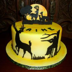 Oh Deer! Deer hunting cake.