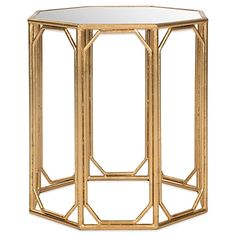 Featuring a contemporary octagonal shape, theMuriel Accent Table brings eight times the elegance to any living room. Crafted with a chic gold-leafed base with mirrored tabletop, it's the ultimate example of updated Asian elegance.