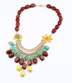 Free Shipping New Arrival Bohemia Crystal Enamel Flower Irregular Acrylic Drops Women Party Charm Choker Necklace Gold Plated $8,13