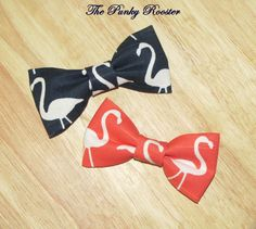 Flamingo Bow Tie Clip on Bow Tie Boys Bow Tie by ThePunkyRooster, $9.95