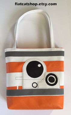vinyl totebag by FlatCatShop on Etsy Diaper Bag, Bb, Tote Bag, Trending Outfits, Unique Jewelry, Handmade Gifts, Etsy, Vintage, Fashion