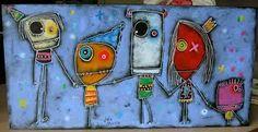 Afbeeldingsresultaat voor julie miville School Projects, Art Projects, Monster Co, Zentangle Drawings, Julie, Little Monsters, Art Reproductions, Love Art, Crafts For Kids