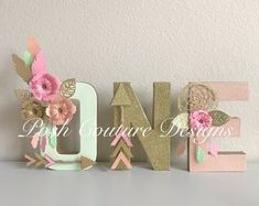 Boho Letters/ Boho One Letters/ Tribal Letters/ Wild ONE Letters/ Boho Baby Shower/ Boho Bridal Shower/ Boho Centerpiece/ One Letters First Birthday Theme Girl, Wild One Birthday Party, Baby Birthday, First Birthday Parties, Birthday Ideas, 1st Birthdays, Wild Ones, Tribal Letters, Boho Baby