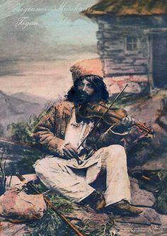 Nomadic Romani gypsy violinist