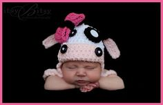 Baby cow hat  Sugarandspicecrochet from etsy